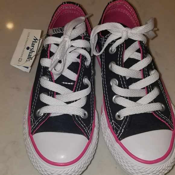 Youth Girl s Converse Black Pink Double Tongue 11 2b001031a